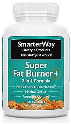 Smarterway | 3 in 1 Fat Burner | GREEN TEA + GARCINIA + FORSKOLIN | Metabolism Booster, Appetite Suppressant, Detox | Increase Metabolism => Burn Fat => Lose Weight | 60 Veggie Capsules
