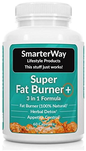 Smarterway | GREEN TEA GARCINIA FORSKOLIN | 3 Fat Burners in 1 | Metabolism Booster, Carb Burner, Carb Blocker, Appetite Suppressant | Curb Hunger, Boost Energy, Lose Weight | 60 Weight Loss Pills