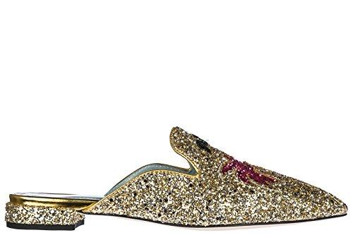 Chiara Ferragni Scarpe Da Bagno Da Donna Sandali Mule Chiara Suite Oro