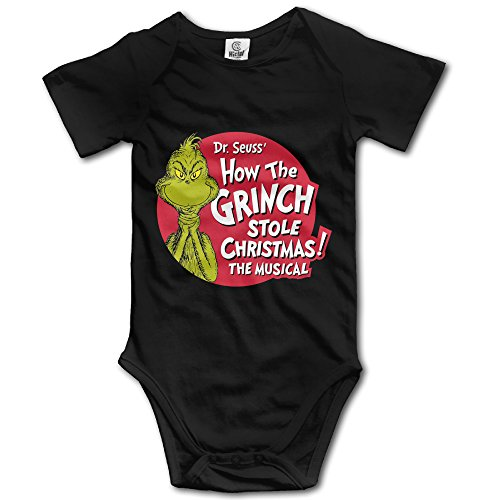 Grinch Outfits (The Grinch Dr Seuss Santa Unisex Short Sleeve Romper Bodysuit Playsuit Outfits For Baby)