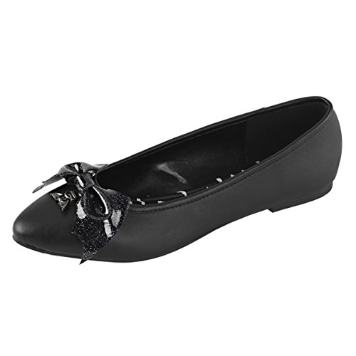 Zapatos De Mujer De Cuña Negra De Summitfashions Zapatos De Baño De Punta Estrecha Con Cola De Murciélago De Color Vegano