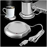 QAWACHH Brand USB Tea Coffee Warmer Heater Cup Mug Colour Grey (Only warmer not heater)