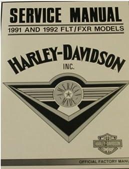 1991 1992 harley davidson flt fxr service repair manual factory rh amazon com 1992 Harley- Davidson 1992 Harley Heritage Softail