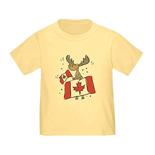 CafePress Canada Day Moose Toddler T Shirt Cute Toddler T-Shirt, 100% Cotton Daffodil Yellow ()