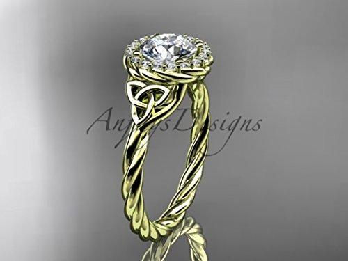 Celtic White Gold Bridal Band (14kt yellow gold rope moissanite Celtic Bridal ring RPCT997)