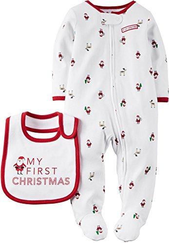 Carters Unisex First Christmas Sleep