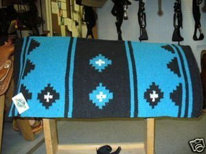Mayatex Apache Saddle Blanket, Turquoise/Black/Cream, 36 x ()