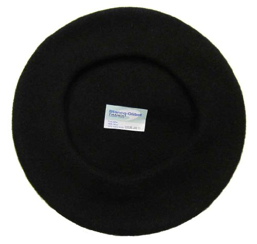 Blancq-Olibet Youth Traditional French Wool Beret Black