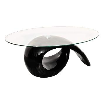 Vidaxl Couchtisch Beistelltisch Kaffeetisch Ovale Glasplatte