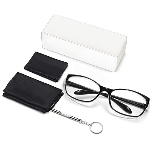 Anti Fog Safety Glasses for Women Men,Anti Pollen Protective Eyewear with Side Shields,Black Blue Light Blocking Glasses