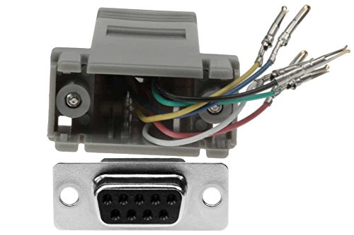 To Rj11 Db9 (SF Cable, DB9 Female to RJ12 Modular Adapter Gray)