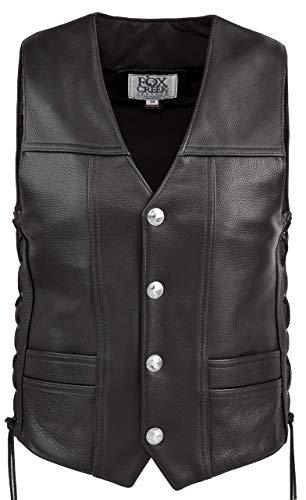 (Leather Full Back Buffalo Nickel Vest )
