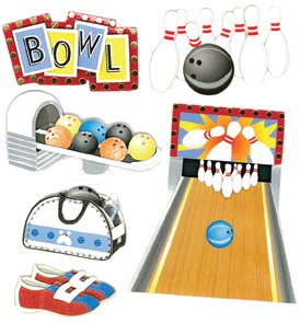 (Jolee's Boutique Bowling Alley Dimensional Stickers)