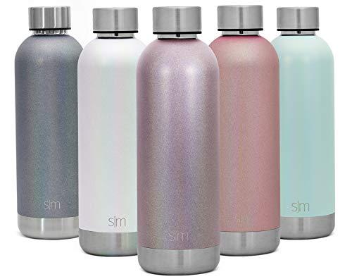 (Simple Modern 25oz Bolt Sports Water Bottle - Stainless Steel - Double Wall Vacuum Insulated - Leak Proof Bottle Shimmer: Amertine)