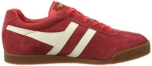Gola Herren Harrier Fashion Sneaker Rot / Ecru Wildleder