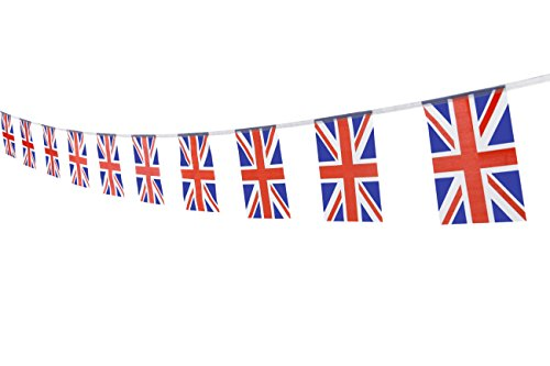 - UK British Flag,100Feet/76Pcs United Kingdom Union Jack National Country World Pennant Flags Banner,Party Decoration Supplies For Olympics,Bar,Indoor and outdoor flags,Intarnational Festival