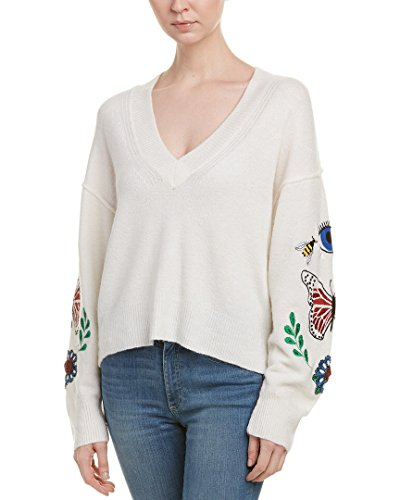 Wildfox Women's Shrine Sweater, Vintage Lace, Small (Lace Wool Sweater)