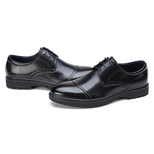 CAMEL Oxford Wingtip Leather Shoes for Men Lace Dress Cap Shoes Black free shipping largest supplier KpMupUGoA