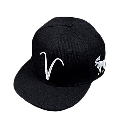 BestWare Hip Hop Cap Baseball Cap Constellation Hat Snapback Hats Zodiac Hats Aries