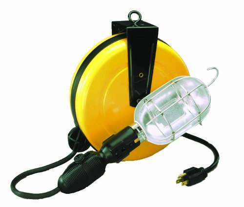 Alert Stamping 5000A-30GCB Professional Incandescent Retractable Cord Reel Work Light w/built-in circuit breaker (Light Reel Incandescent)