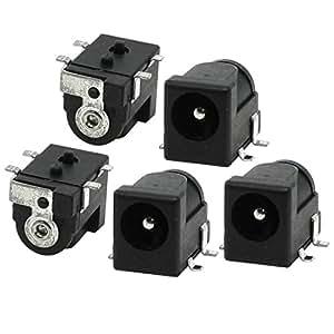 5 piezas de montaje en PCB 2.5x5.5mm estéreo Jack Socket Conector de audio y vídeo