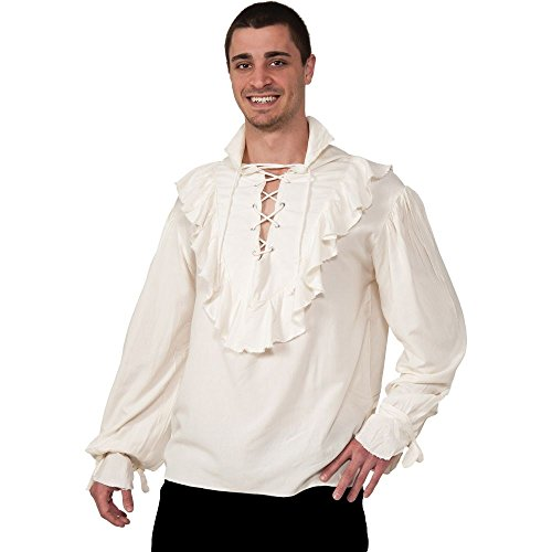 Rubie's NATURAL GAUZE PIRATE SHIR (Pirate Ideas Costumes)