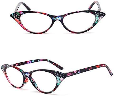 RJGOPL des lunettes de soleil LeonLion Olhos de Gato Mulheres Lentille claire Oculos Presbytie Oculos Leitura Oculos + 1.0 + 1.5 + 2.0 + 2.5 + 3.0 + 3.5 + 4.0 Green Spot +100