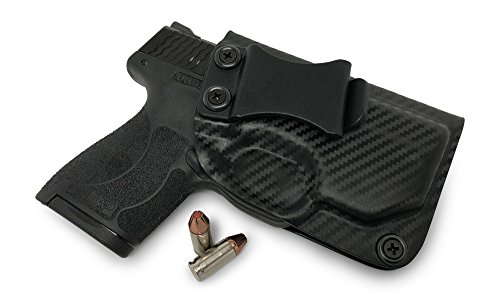 Concealment Express IWB KYDEX Holster: fits S&W M&P Shield M2.0 9/40 w/RED or Green Integrated Crimson Trace Laser ONLY - Cstm Fit - US Made - IWB - Adj. Cant/Ret. (BLK, Right)