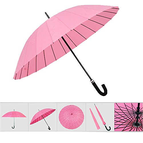 Water Activated Flower appeared Umbrella (Pink) - 1