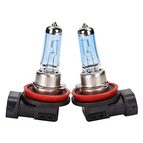 H11-12V55W Halogen Headlight Bulbs Low Beam/Fog Light White Light 4500K Pack of 2