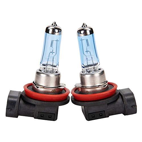 H11-12V55W Halogen Headlight Bulbs Low Beam/Fog Light White Light 4500K Pack of 2
