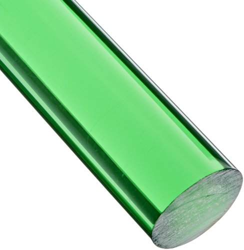 Green Acrylic Rods - Acrylic Round Rod, Translucent Green, 1