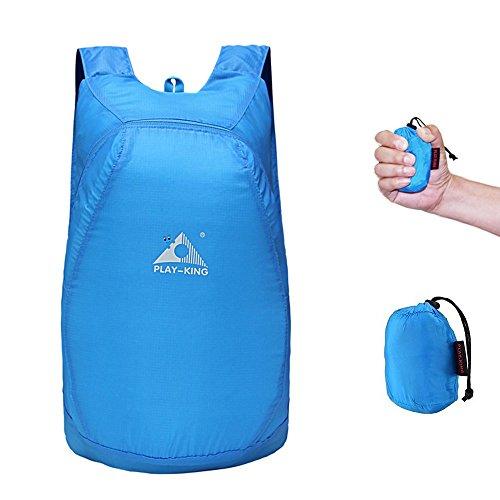 神奇!可以折叠到拳头大却超级能装的防水背包$10.99!