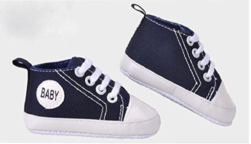 modakeusu del bebé Prewalker Zapatillas antideslizante suave Basic Canvas Zapatos, lona, azul, Size 12(3-6 month) azul