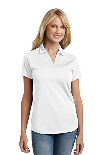 Diamond Polo Jacquard - Port Authority L569 Women's Diamond Jacquard Polo White Large