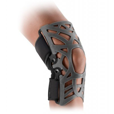 DonJoy Reaction WEB Knee Support Brace with Compression Undersleeve: Grey, Medium/Large