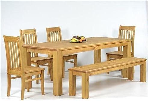 Sitzgruppe Garnitur Mit Esstisch 140X90Cm + 4 Stühle Klassic + 1
