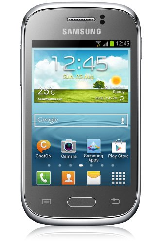 Cheap Unlocked Cell Phones Galaxy Young S6310 metallic silver