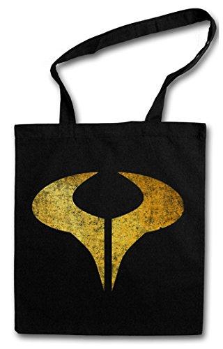 SYMBOL OF CRONOS Hipster Shopping Cotton Bag Borse riutilizzabili per la spesa – Cronus Sign Logo Insignia Systemlord Stargate