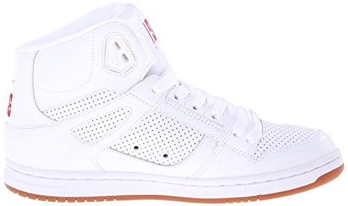 DC Jugend Rebound Skate Schuhe Weiß Rot