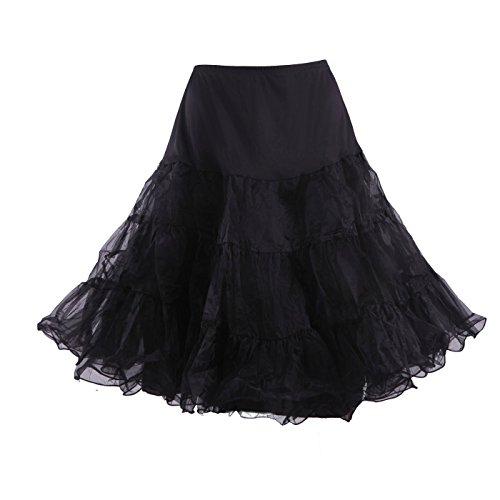 50's Rockabilly Halloween Costumes (HDE Women's Petticoat Vintage Slip Rockabilly Swing Dress Underskirt Tutu Skirt)