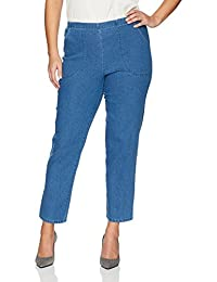 Just My Size Women's Apparel Womens Plus Size Stretch Pull On Jean Pants