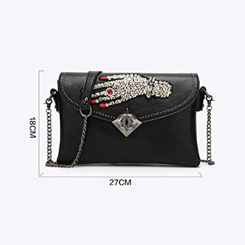 Palm Sac à De Petit Sac Simple Option Black XRKZ 5 Diamant Perlé Main épaule Couleurs De à en Mode Verrouillage à Pink Chaîne Bandoulière Sac avec qHxAwZT6