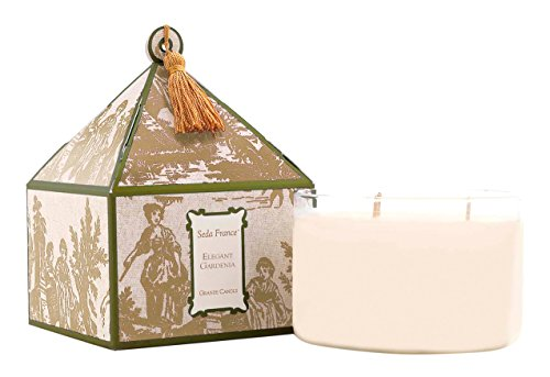 Seda France 3-Wick Candle, Elegant Gardenia, 26 Ounce (Pack of 8)