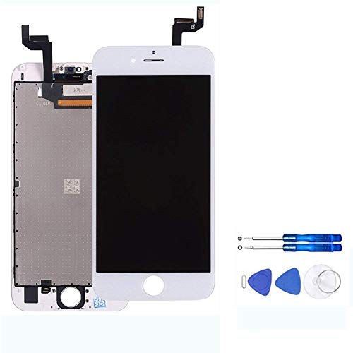 for iPhone 6S Screen Replacement (4.7 Inch) White - LCD Display Screen + Touch Digitizer Assembly with Full Set Repair Tools and Screen Protector (iPhone 6S White) by YOU XIN