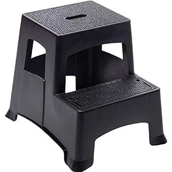Amazon Com Range Kleen Double Step Gray Folding Stool 19
