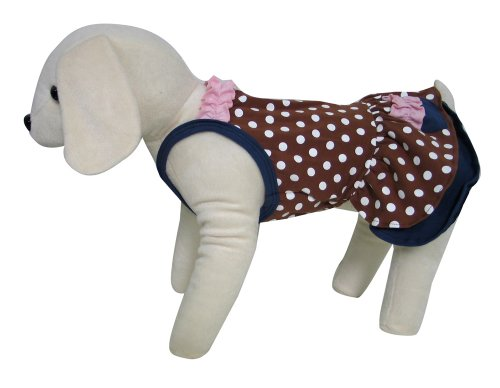 UP Collection Flirty Polka Dots and Frills Dress for Pets, Medium