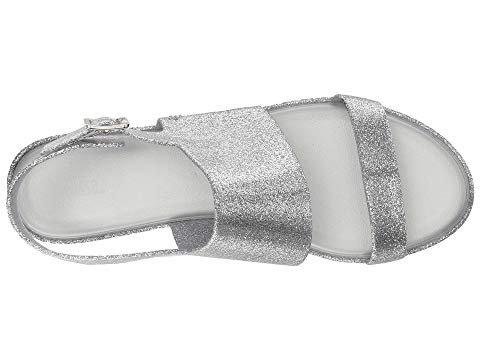 Melissa Womens Classy Sandal Silver Glass Glitter Size 7