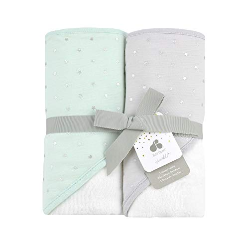 Just Born Sparkle 2pk Hooded Towel Set, Mint
