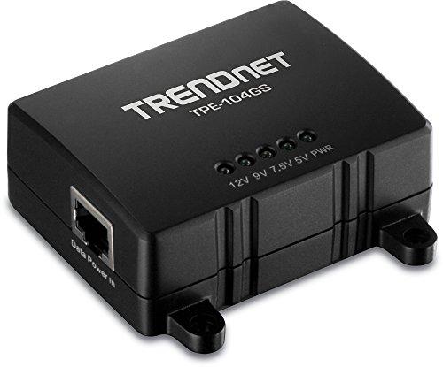 TRENDnet Gigabit PoE Splitter, Wall Mountable, Adjustable Voltage Output, PoE Powered, TPE-104GS by TRENDnet